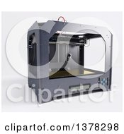 Clipart Of A 3d Printer On A White Background Royalty Free Illustration by KJ Pargeter