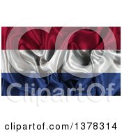Clipart Of A 3d Crumpled Netherlands Flag Royalty Free Illustration