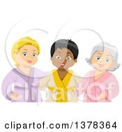 Clipart Of A Group Of Happy Senior Women At The Spa Royalty Free Vector Illustration by BNP Design Studio
