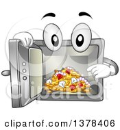 Clipart Of A Vault Mascot Showing Treasures On The Inside Royalty Free Vector Illustration by BNP Design Studio