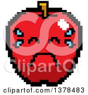 Crying Apple In 8 Bit Style