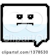 Clipart Of A Serious Speech Balloon Character In 8 Bit Style Royalty Free Vector Illustration