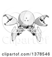 Cartoon Defensive Crab Like Robot