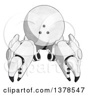 Clipart Of A Cartoon Crab Like Robot Royalty Free Illustration