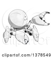 Clipart Of A Cartoon Crab Like Robot Grabbing Royalty Free Illustration by Leo Blanchette