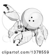 Clipart Of A Cartoon Crab Like Robot Waving Royalty Free Illustration by Leo Blanchette