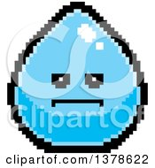 Clipart Of A Serious Water Drop Character In 8 Bit Style Royalty Free Vector Illustration by Cory Thoman
