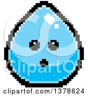 Clipart Of A Surprised Water Drop Character In 8 Bit Style Royalty Free Vector Illustration by Cory Thoman