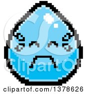 Clipart Of A Crying Water Drop Character In 8 Bit Style Royalty Free Vector Illustration by Cory Thoman