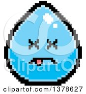 Clipart Of A Dead Water Drop Character In 8 Bit Style Royalty Free Vector Illustration by Cory Thoman