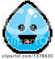 Clipart Of A Happy Water Drop Character In 8 Bit Style Royalty Free Vector Illustration by Cory Thoman