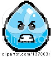 Clipart Of A Mad Water Drop Character In 8 Bit Style Royalty Free Vector Illustration by Cory Thoman