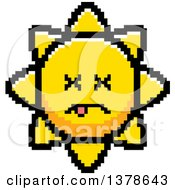 Clipart Of A Dead Sun Character In 8 Bit Style Royalty Free Vector Illustration