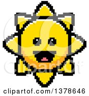 Clipart Of A Happy Sun Character In 8 Bit Style Royalty Free Vector Illustration