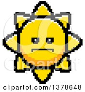 Clipart Of A Serious Sun Character In 8 Bit Style Royalty Free Vector Illustration