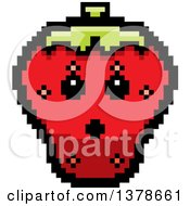 Clipart Of A Surprised Strawberry Character In 8 Bit Style Royalty Free Vector Illustration by Cory Thoman