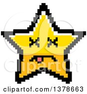 Clipart Of A Dead Star Character In 8 Bit Style Royalty Free Vector Illustration