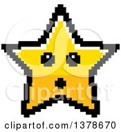 Clipart Of A Surprised Star Character In 8 Bit Style Royalty Free Vector Illustration