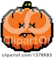 Clipart Of A Dead Pumpkin Character In 8 Bit Style Royalty Free Vector Illustration