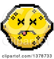 Clipart Of A Dead Lemon Character In 8 Bit Style Royalty Free Vector Illustration