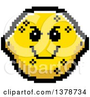 Clipart Of A Grinning Evil Lemon Character In 8 Bit Style Royalty Free Vector Illustration