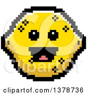 Clipart Of A Happy Lemon Character In 8 Bit Style Royalty Free Vector Illustration