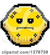 Clipart Of A Serious Lemon Character In 8 Bit Style Royalty Free Vector Illustration