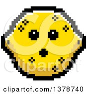 Clipart Of A Surprised Lemon Character In 8 Bit Style Royalty Free Vector Illustration