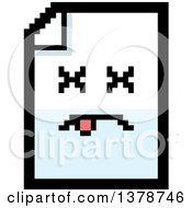 Clipart Of A Dead Note Document Character In 8 Bit Style Royalty Free Vector Illustration
