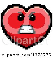 Mad Heart Character In 8 Bit Style