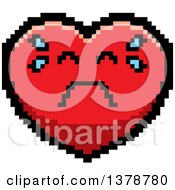 Crying Heart Character In 8 Bit Style