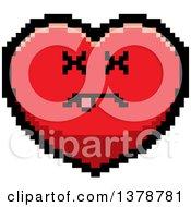 Dead Heart Character In 8 Bit Style