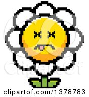 Clipart Of A Dead Daisy Flower Character In 8 Bit Style Royalty Free Vector Illustration