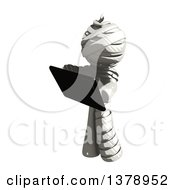 Clipart Of A Fully Bandaged Injury Victim Or Mummy Holding A Tablet Computer Royalty Free Illustration