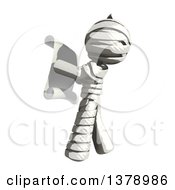 Clipart Of A Fully Bandaged Injury Victim Or Mummy Reading A Scroll Royalty Free Illustration