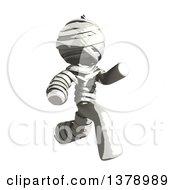 Clipart Of A Fully Bandaged Injury Victim Or Mummy Running Royalty Free Illustration