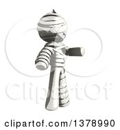 Clipart Of A Fully Bandaged Injury Victim Or Mummy Presenting Royalty Free Illustration