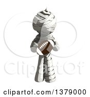 Clipart Of A Fully Bandaged Injury Victim Or Mummy Holding A Football Royalty Free Illustration by Leo Blanchette