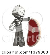 Clipart Of A Fully Bandaged Injury Victim Or Mummy With A Beef Steak Royalty Free Illustration by Leo Blanchette
