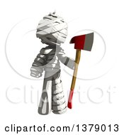 Clipart Of A Fully Bandaged Injury Victim Or Mummy Holding An Axe Royalty Free Illustration by Leo Blanchette