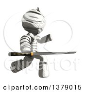 Clipart Of A Fully Bandaged Injury Victim Or Mummy Holding A Sword Royalty Free Illustration by Leo Blanchette