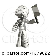 Clipart Of A Fully Bandaged Injury Victim Or Mummy Holding A Cleaver Knife Royalty Free Illustration by Leo Blanchette