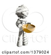 Clipart Of A Fully Bandaged Injury Victim Or Mummy Holding A Bowl Royalty Free Illustration by Leo Blanchette