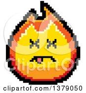 Dead Fire Character In 8 Bit Style