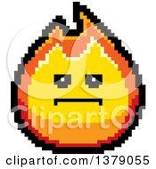Clipart Of A Serious Fire Character In 8 Bit Style Royalty Free Vector Illustration