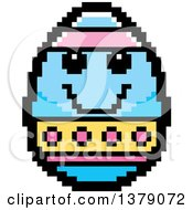 Happy Easter Egg Character In 8 Bit Style