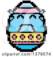 Crying Easter Egg Character In 8 Bit Style