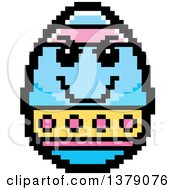Grinning Evil Easter Egg Character In 8 Bit Style