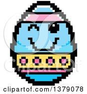 Winking Easter Egg Character In 8 Bit Style