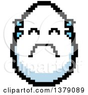 Crying Egg Character In 8 Bit Style